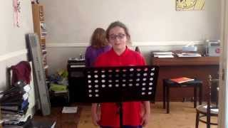 Scarlett sings 'Earth, Sea and Sky' by Lin Marsh.