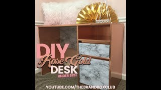 DIY Rose Gold Desk for under $25 #SuperEasy