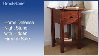 Overview: Home Defense Night Stand With Gun Safe