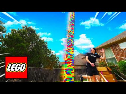 DONT LET THE 100FT LEGO TOWER FALL ON YOU!