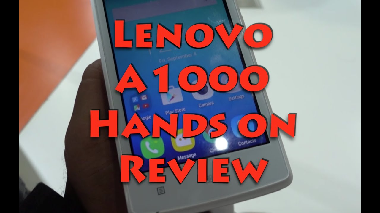 Lenovo A1000 India Hands On Review Camera And Features Overview