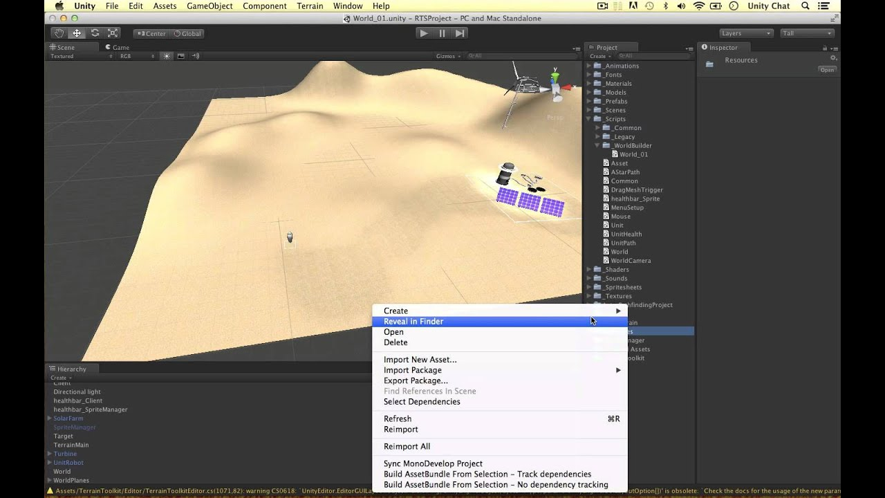 Unity RTS World Builder [1] - Setup and Resources Load - YouTube