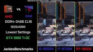 Video Tom Clancys The Division - DX12 1080p 8700K vs. 8600K vs. 1800X - 1080 Ti OC CPU-Benchmark download MP3, 3GP, MP4, WEBM, AVI, FLV Oktober 2018
