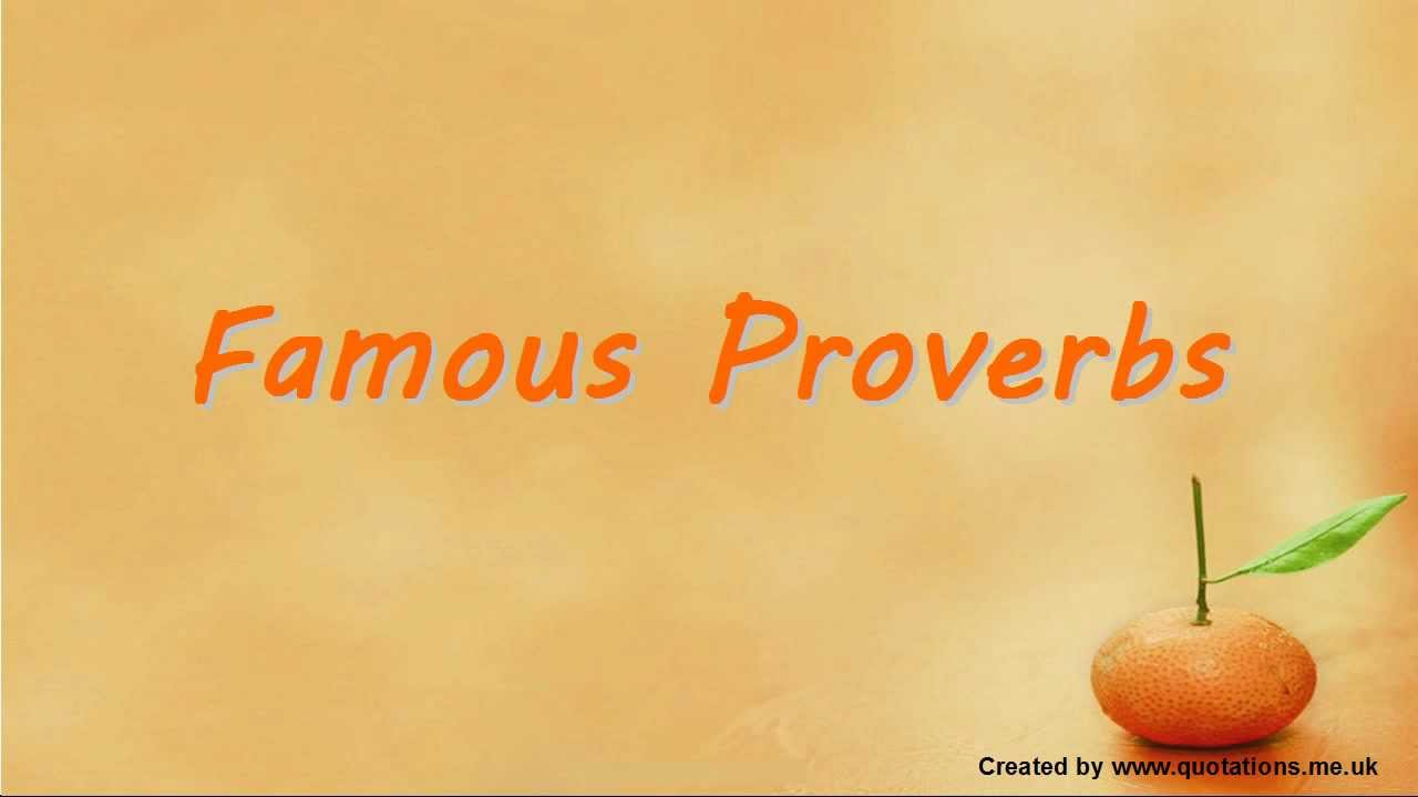 Popular Sayings About Life Magnificent ♢○♢ Famous Proverbs  Famous Sayings ♢○♢  Youtube