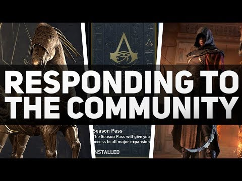 Assassin's Creed Origins - Responding to the Community (Season Pass & Pack Rants FOLLOW UP)