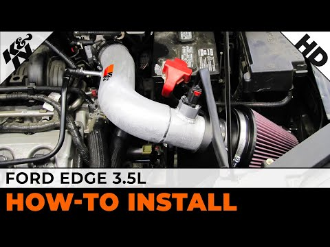 And  Ford Edge  L Air Intake Installation Youtube