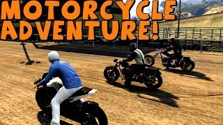GTA 5 | 3 Friends Go On A Motorcycle Adventure! Part 1 [Fails Included]