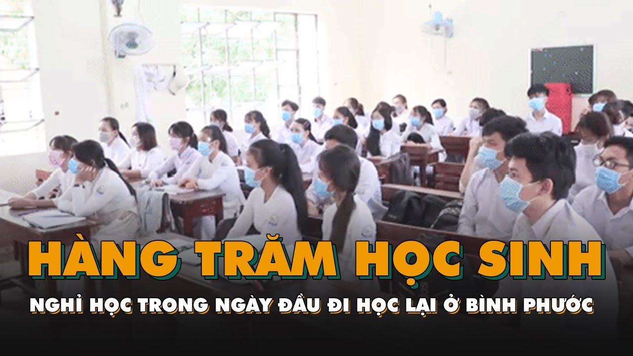 Hàng trăm học sinh nghỉ học trong ngày đầu đi học trở lại ở Bình Phước