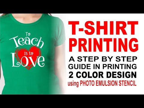 T-SHIRT PRINTING -A step by step Guide in printing 2 Color Design