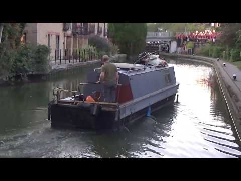 Grand Union Canal-narrowboat Passing Through Lock At Rising Sun, Berkhampstead