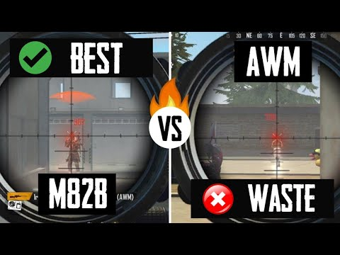 AWM vs M82B - WHICH GUN IS BEST ? | FREE FIRE TIPS AND TRICKS | FREE FIRE