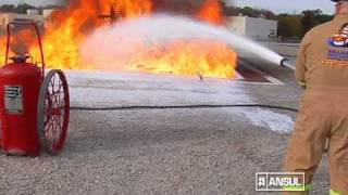 Extincion Incendio con Espuma y Polvo quimico