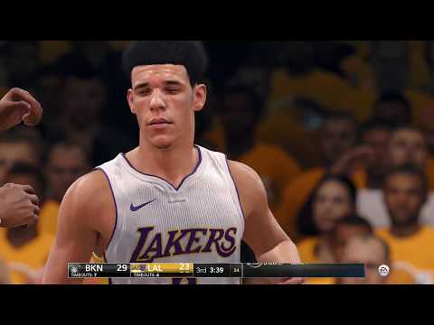 NBA LIVE 18 - Los Angeles Lakers vs Brooklyn Nets | Big Baller Brand  (FULL MATCH) (1080p 60fps)