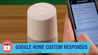 Make Google Home say anything with IFTT