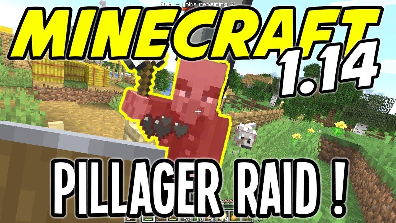Minecraft 1 14 - PILLAGER RAID vs TOWN WALLS - Minecraft 1 14 Playthrough -  Ep 9