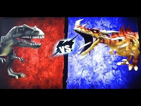 Allosaurus vs Gorgoraptor codes+gameplay (battle of the giants dinosaur strike)