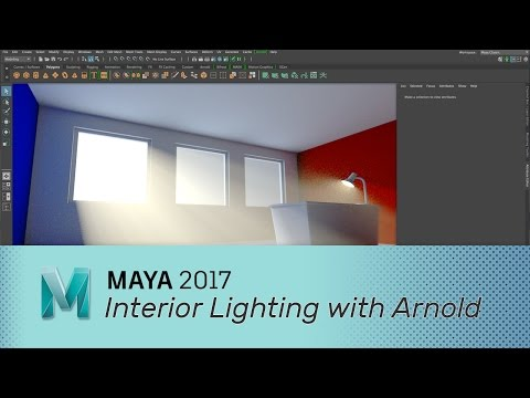 Maya 2017 - Interior Lighting with Arnold