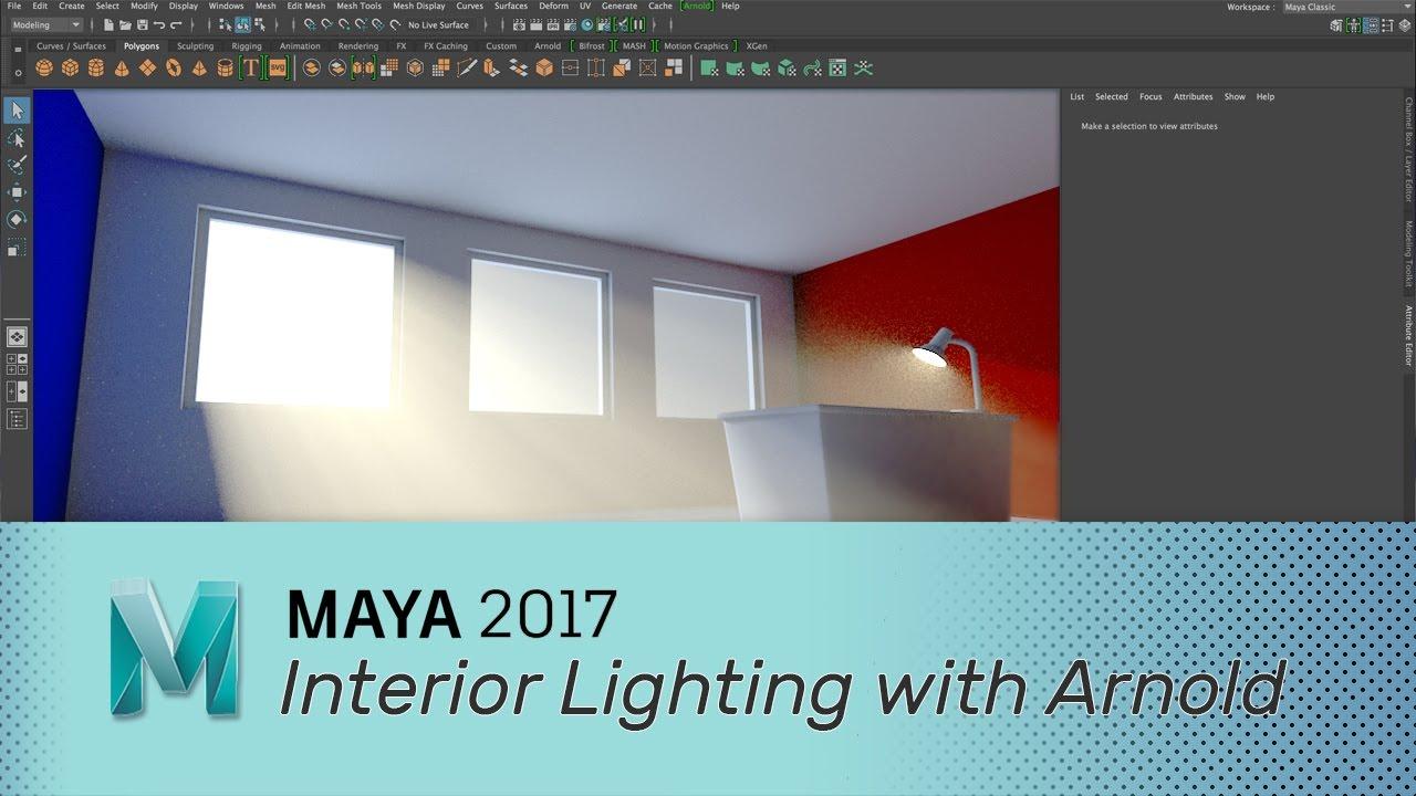 Maya 2017 - Interior Lighting with Arnold