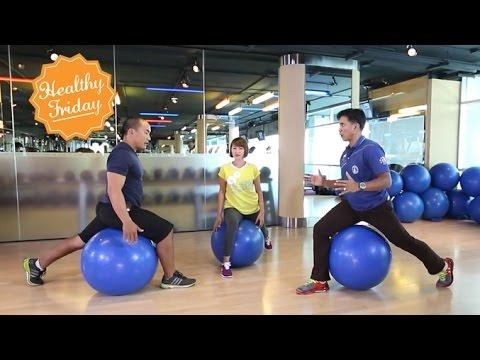 Healthy Friday [by Mahidol] ฟิตบอล บอลใหญ่เสริมสุขภาพ (2/2) บริหารทุกส่วนกับบอลกลมใหญ่
