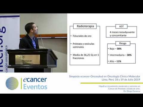 hipofraccionamiento moderado de cáncer de próstata