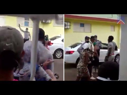 Tiros y golpes en nuevo enfrentamiento entre policías y cubanos