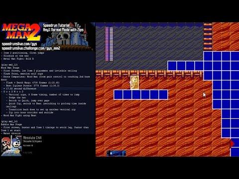 Mega Man 2 Speedrun Tutorial w/zips