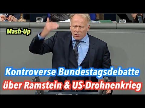 Mash-Up: Kontroverse Debatte im Bundestag über Ramstein & US-Drohnenkrieg am 15. Dezember 2016