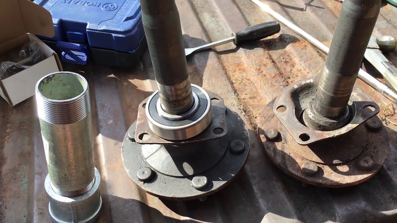 installing axle bearings with a homemade slide hammer dana