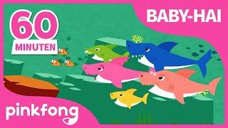 Baby-hai für 1 Stunde | Tierlieder | Baby Shark Deutsch | Pinkfong Kinderlieder