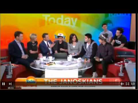Janoskians live on The Today Show - October 3rd, 2012