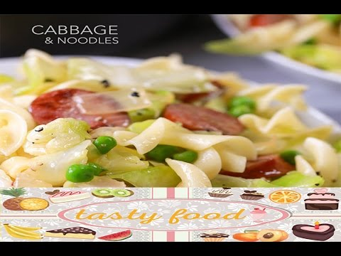 Tasty Food Cabbage And Noodles! Simple, Easy Comfort Food