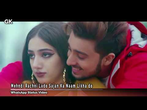 Mehndi Rachni Lado Sajan Ka Naam Likha Do WhatsApp Status Video By GK Love Song & Video