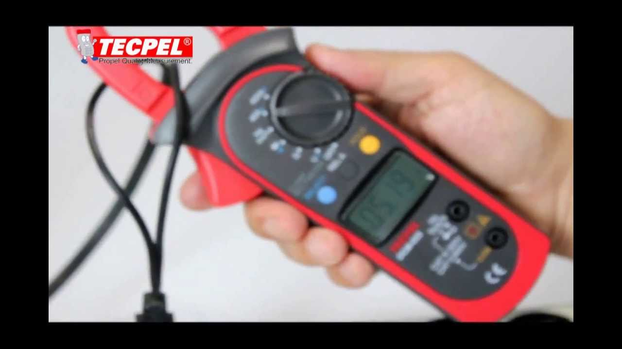 Using Digital Clamp Meter : How to use a clamp meter youtube