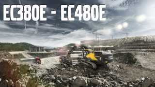 Volvo EC380E-EC480E Crawler Excavators promotional video