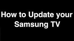 How to Update Software on Samsung Smart TV  -  Fix it Now