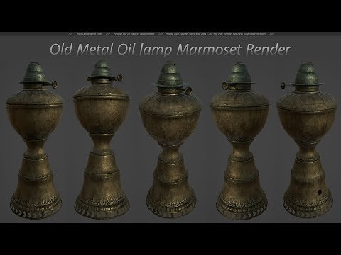 Old Metal Oil Lamp Marmoset Toolbag 3 Render