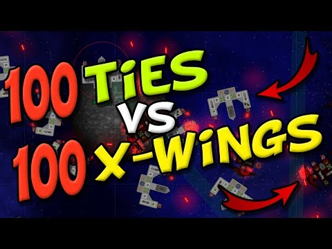 X-WINGS vs TIE FIGHTERS!- Cosmoteer Death Star - Game of Space Battles and Ship Building!