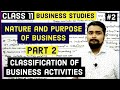 #2, Classification of business activities | industry | trade | class 11 business studies