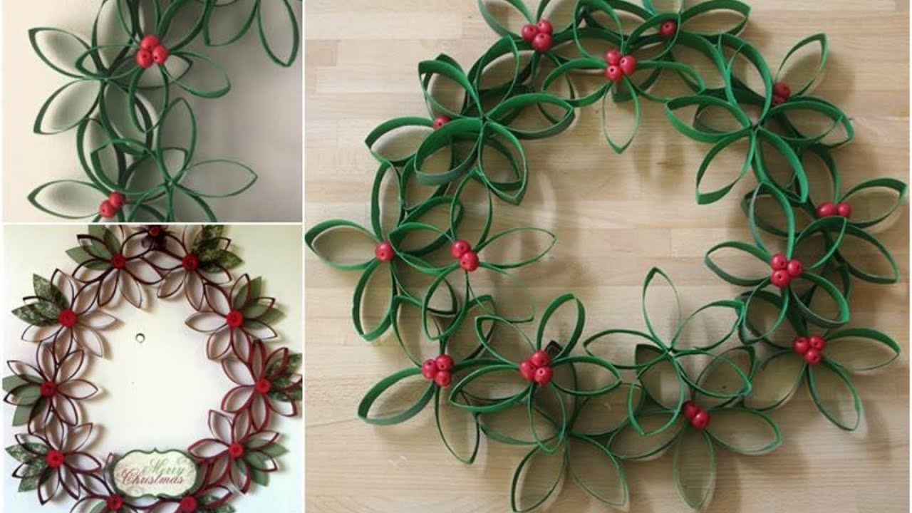 wreath made out of toilet paper rolls diy toilet paper roll crafts you need to see christmas craft