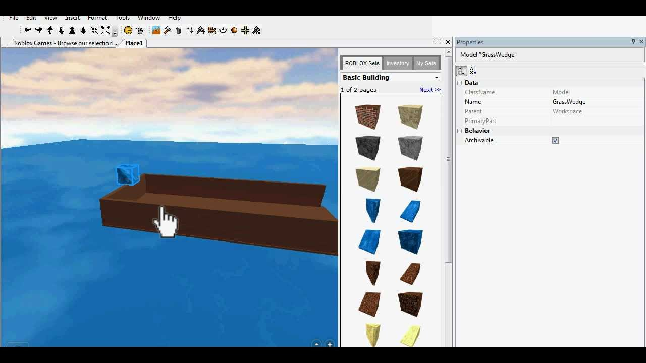 Roblox How To Make Water Youtube