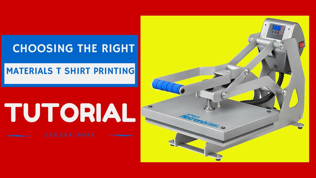 T shirt printing business choosing the right materials for How to start t shirt printing business