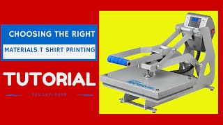 T Shirt Printing Business: Choosing The Right Materials For Starting Your Home