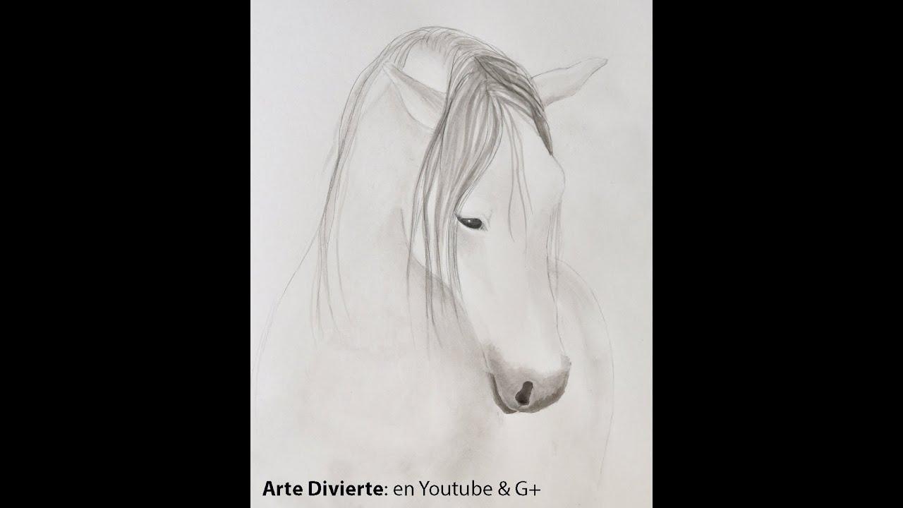 Cómo pintar un caballo con tinta china - Arte Divierte. - YouTube