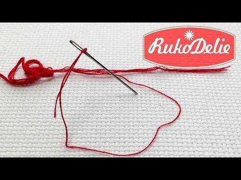 Как вытащить одну нитку   Вышивка