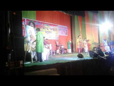 karimganj tirtha &tanmoy programme goutam chakraborty kalikadar chobi live art