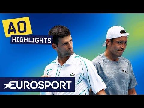 Novak Djokovic Vs Tatsuma Ito Highlights | Australian Open 2020 Round 2 | Eurosport