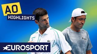 Novak Djokovic vs Tatsuma Ito Highlights | Australian Open 2020 Round 2 | Eurosport