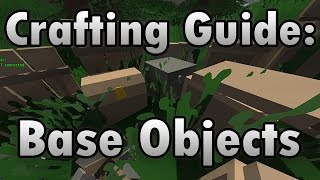 Unturned Crafting Guide: Base Objects (placeables) - How To Make A Campfire, Chest, Cot, And More