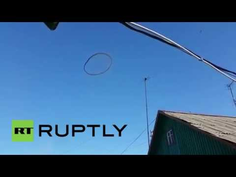 Kazakhstan: Mysterious black ring spotted floating in the sky