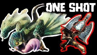 Monster Hunter World - One shot Pukei-Pukei with Charge Blade